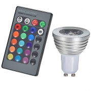 PYSICAL(TM) 3W RGB LED Bulb Lamp Light 16 Color Changing with IR Remote Controller (GU10)