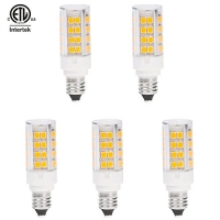 HERO-LED DE11-45S-DW Dimmable Mini Candelabra E11 Base Single Ended LED Halogen Replacement Bulb, 3.5W, 35W Equivalent, Daylight White 5000K, 5-Pack
