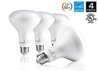 Hyperikon BR30 LED Bulb, 12W (75W equivalent), 3000K (Soft White Glow), CRI90+, Wide Flood Light Bulb, 120° Beam Angle, Medium Base (E26), Dimmable, UL-Listed and Energy Star-Qualified - (Pack of 4)