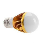 E27 6W 400-500LM 3000-3500K Warm White Light LED Ball Bulb (110-240V)