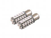 2X AMBER 1156/BA15S 68 COUNT SMD LED LIGHT BULB FRONT TURN SIGNAL 93 1003 1073