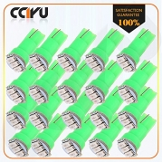 CCIYU 20x T5 Wedge 3014 SMD Speedometer Gauge Cluster Green LED Light Bulbs 37 73 2721 For 199-1997 2000 Chrysler New Yorker Concorde LHS Sebring 1993 2000 Cadillac 60 Special Escalade