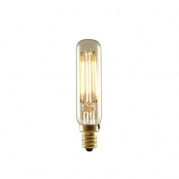 Bulbrite 776504 25W Equivalent LED2T6/22K/FIL-NOS 2W LED Nostalgic Mini Radio Tube Bulb with Candelabra Base, Antique Finish