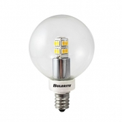 Bulbrite 770145 LED/G16/E12 2.5W LED G16 Globe Bulb, 25W Equivalent with Candelabra Base, Warm White