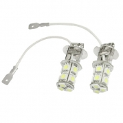 uxcell® 2 Pcs White Driving Fog Lights H3 LED Bulbs 13 SMD 5050