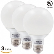 3-PACK 7W Dimmable G25 LED Bulb, 60W Incandescent Equivalent Vanity Light Bulb, UL listed Damp Location Globe Bulb for Pendant, Bath, Dressing Room Decorative Lighting - 5000K Daylight