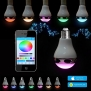 AGPtEK® Bluetooth Smart LED Light Bulb Dimmable Color Changing LED Lights with Built-in Music Speaker for iPhone, iPad, Samsung Galaxy, HTC