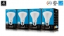 BR20 LED Bulb, Hyperikon, 8W (50W equivalent), 4000K (Daylight White), CRI 90+, Wide Flood Light Bulb, 120° Beam Angle, Medium Base (E26), Dimmable, UL-Listed - (Pack of 4)