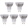 HERO-LED GU10-24S-DW MR16 GU10 LED Halogen Replacement Bulb, 120 Degree Wide Beam Floodlight, 4.8W, 50W Equivalent, Daylight White 5000K, 5-Pack(Not Dimmable)